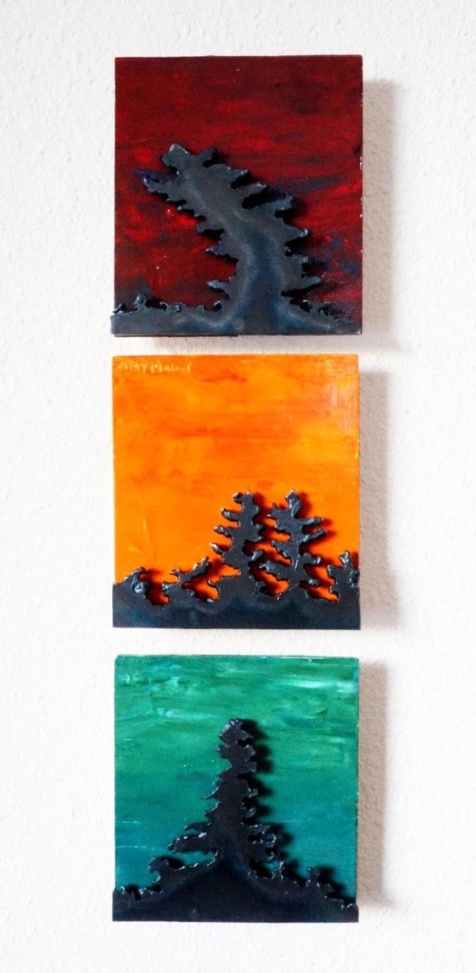 Triptych Amy Malouf 5x5