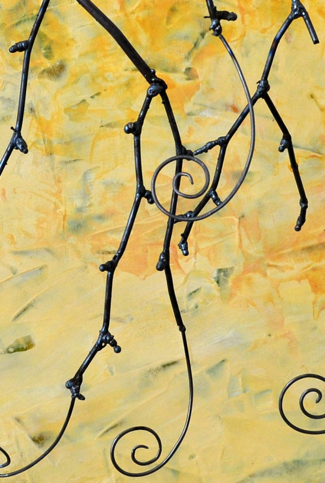 Yellow Spirals Detail Amy Malouf 2012