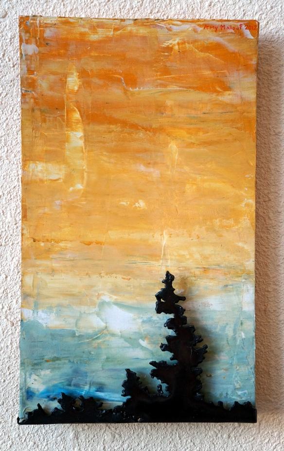 """""""Yellow Sky Spruce"""", 8x13 Amy Malouf $50.00"""