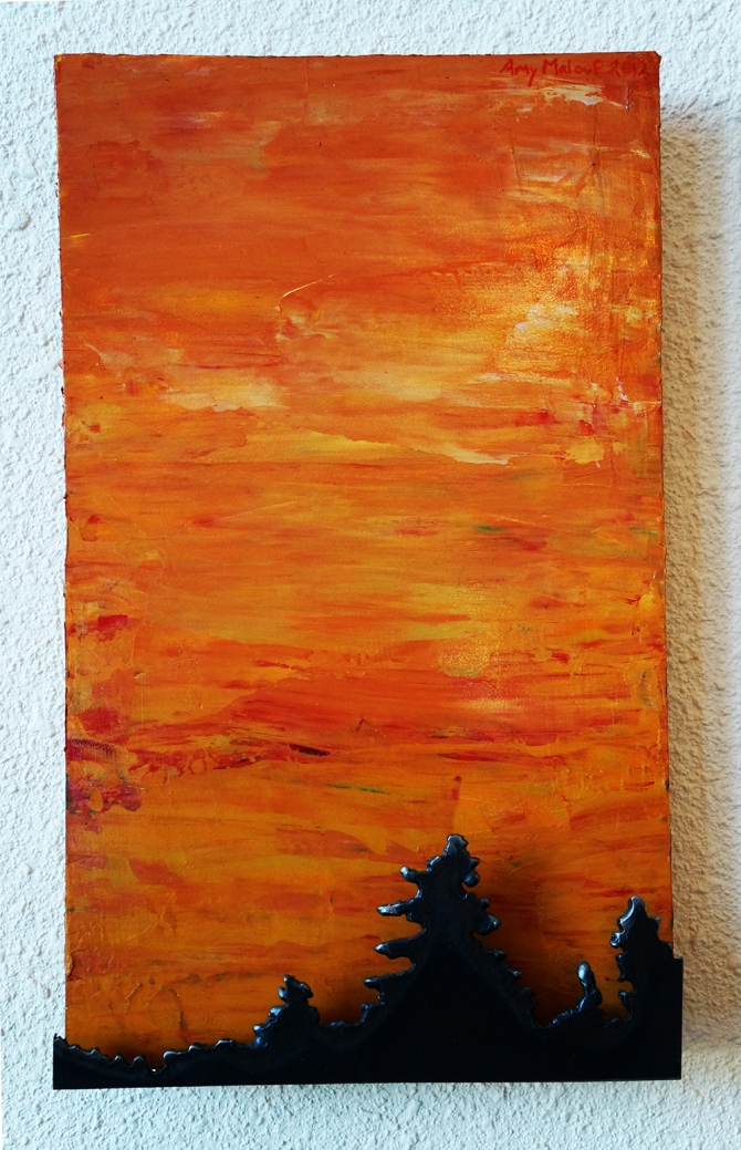 """""""Coral Sky Spruces"""" Amy Malouf"""