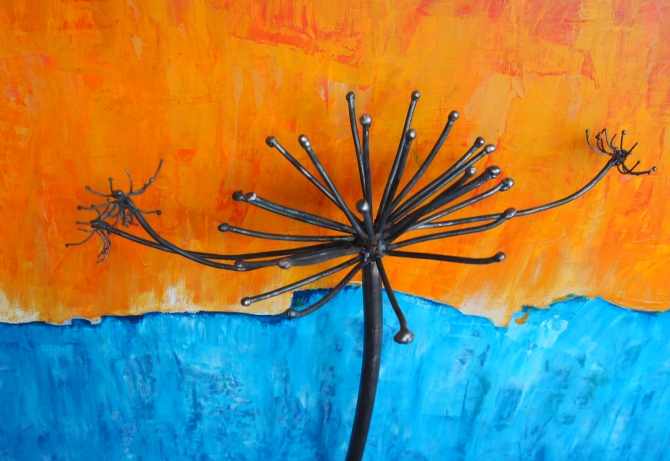 'Cow Parsnip with Orange and Blue' Amy Malouf